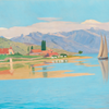 "Félix Vallotton, ""Vue du port de Pully"", 1891, huile sur toile, 51 x 74 cm, inv. MAP 145 © MAP, Photo: Creatim, Renens"